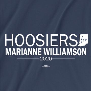 Hoosiers For Marianne Williamson (Unisex Navy Tee)