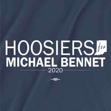 Hoosiers For Michael Bennet (Unisex Navy Tee)