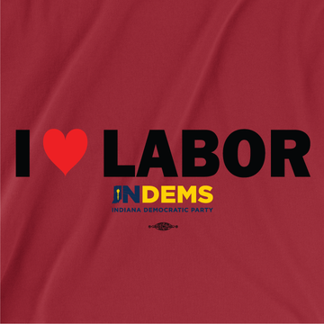 I Love Labor (Unisex Red Longsleeve Tee)