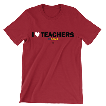 I Love Teachers (Unisex Red Tee)