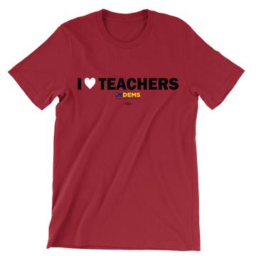I Love Teachers (Unisex Red Tee)