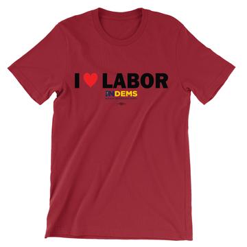 I Love Labor (Unisex Red Tee)