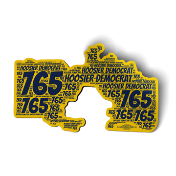 """Area Code 765 (6"""" x 3.5"""" Vinyl Sticker -- Pack of Two!)"""