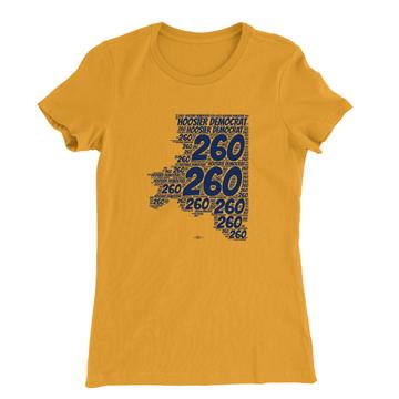 Area Code 260 (Women's Gold Tee)