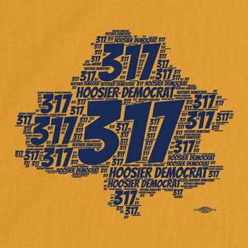 Area Code 317 (Women's Gold Tee)