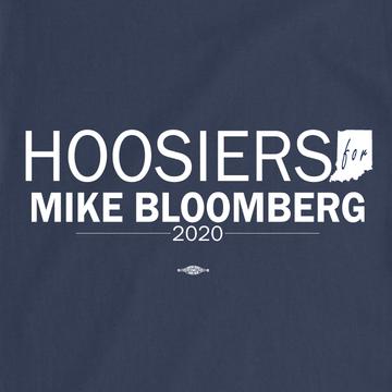 Hoosiers For Mike Bloomberg (Unisex Navy Tee)
