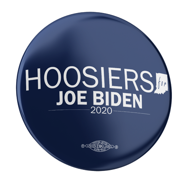 "Hoosiers For Joe Biden (2.25"" Pin-Back Button - Pack of Two!)"