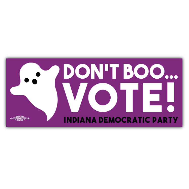 "Don't Boo... Vote! (9"" x 3.5"" Vinyl Sticker)"