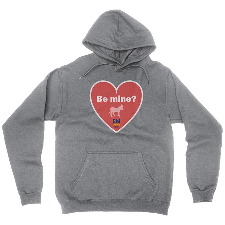 Be Mine (Dark Ash Adult Hooded Pullover Fleece)