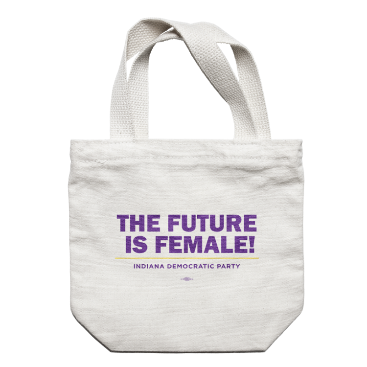 The Future Is Female (Natural Canvas Tote)