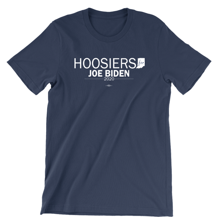 Hoosiers For Joe Biden (Unisex Navy Tee)