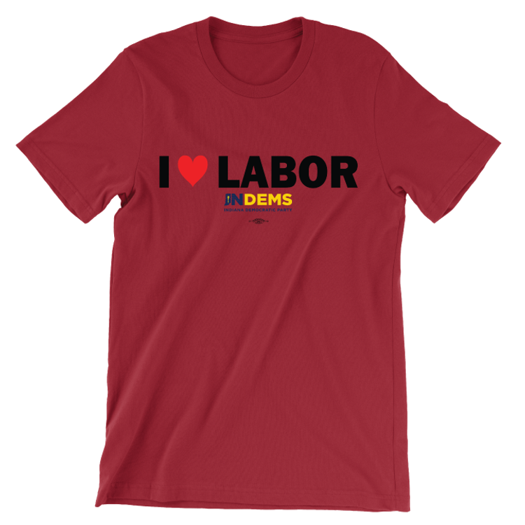 I Love Labor (Unisex Red Tee)