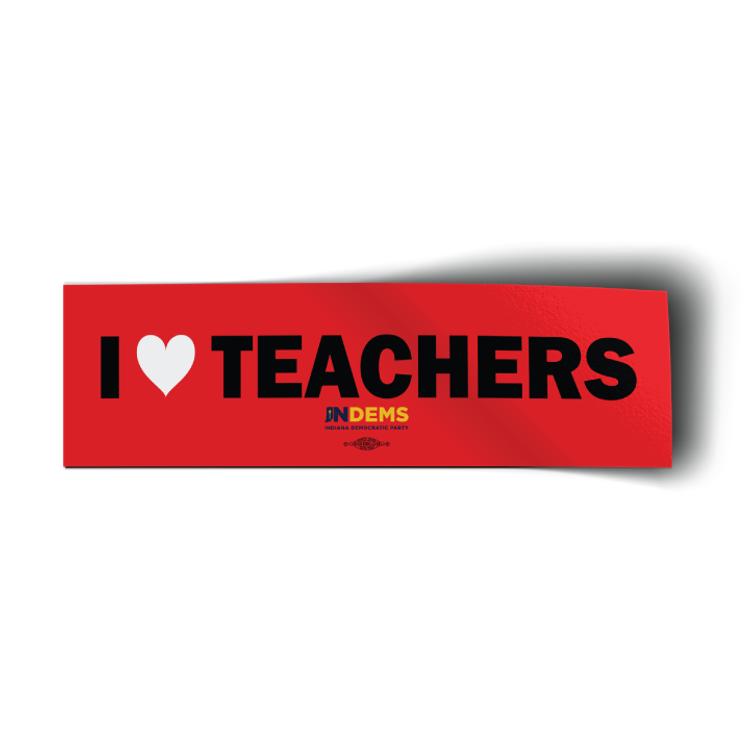 "I Love Teachers (10"" x 3"" Vinyl Sticker)"