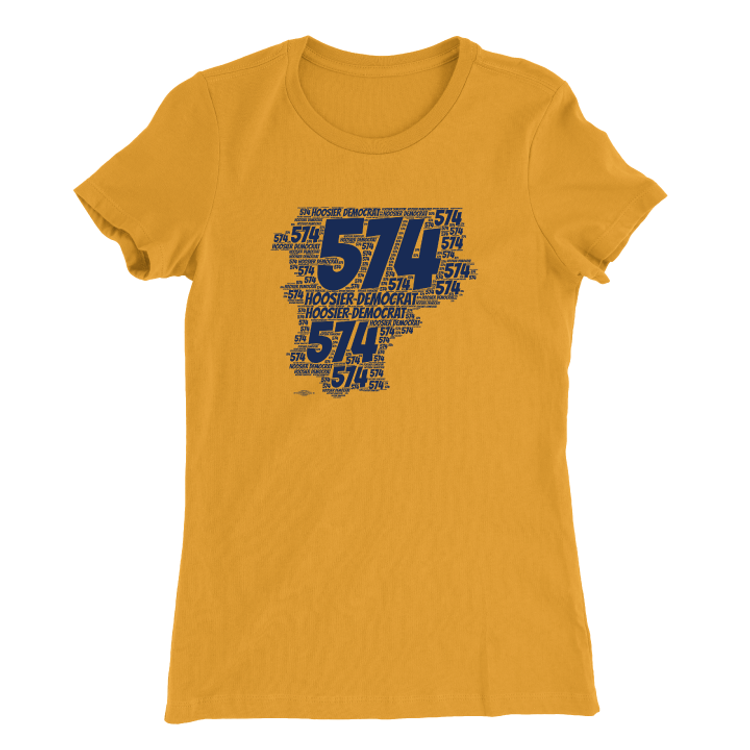 Area Code 574 (Women's Gold Tee)