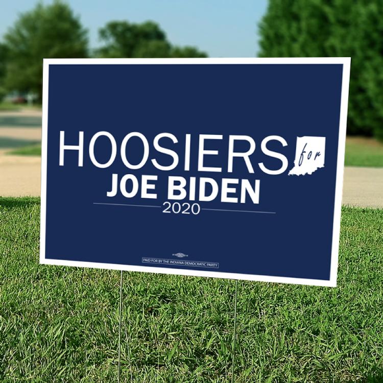 "Hoosiers For Joe Biden (24"" x 18"" Coroplast Yard Sign)"