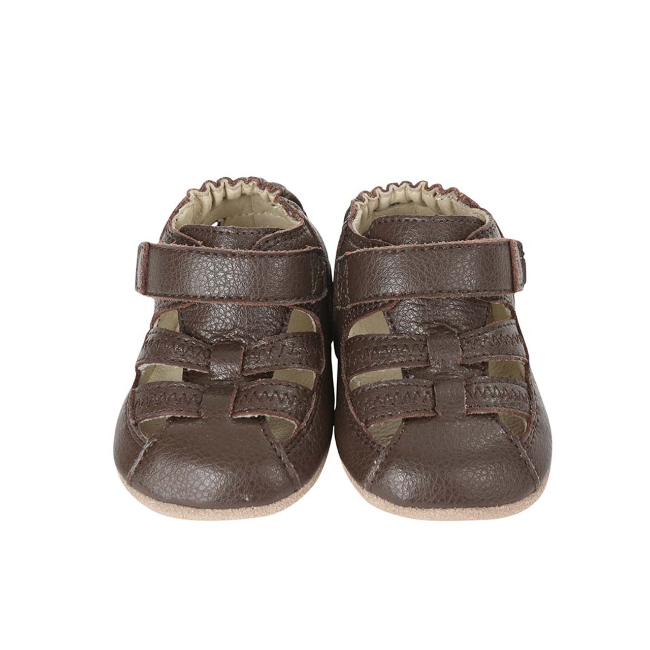 50c2384c4 Front view of Brown Baby Sandal