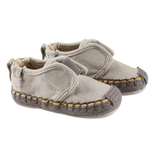 Robeez Light Grey James First Kicks - Angle
