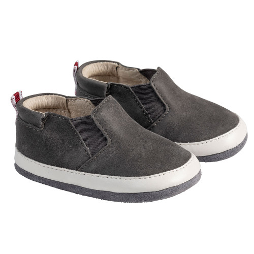 Angle - Robeez Grey Lenny Loafer Mini Shoez