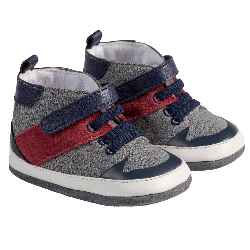 Angle - Robeez Navy Zachary Mini Shoez