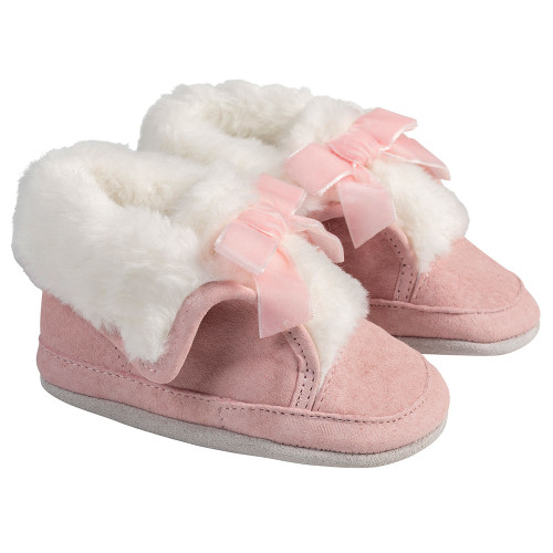 Angle - Robeez Pink Willa Soft Soles Boots