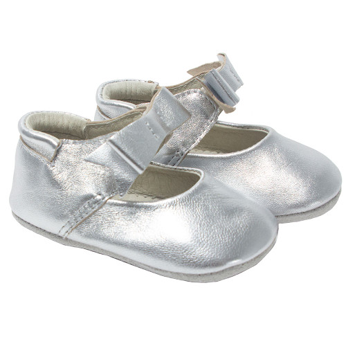Robeez Silver Sofia  Metallic First Kicks - Angle