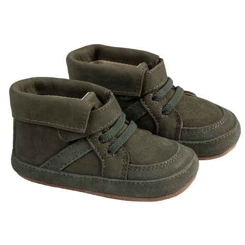 Angle - Robeez Olive Grayson Boot First Kicks