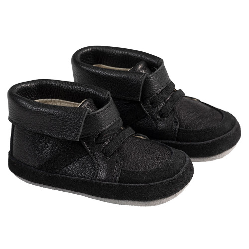 Angle - Robeez Black Grayson Boot First Kicks