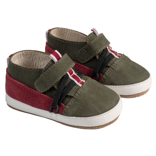 Angle - Robeez Olive/Burgundy Anthony First Kicks