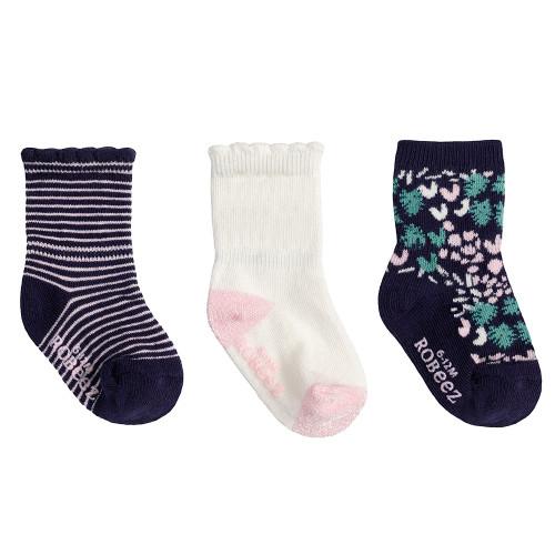 Robeez Zinnia Socks, 3-Pack