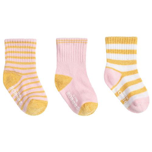 Robeez Daily Danielle Socks 3-Pack