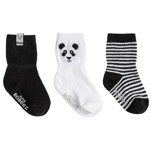Robeez Piper Panda Socks, 3-Pack