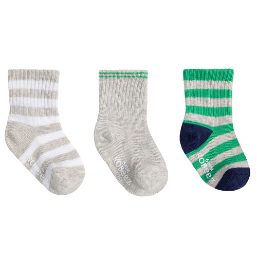 Robeez Green Daily Dave Socks, 3 Pack