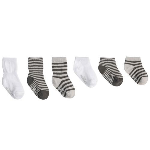 Robeez Grey Essentials Socks, 6-Pack