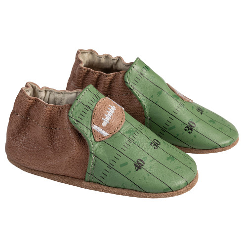 Angle - Robeez Green Walter Soft Soles