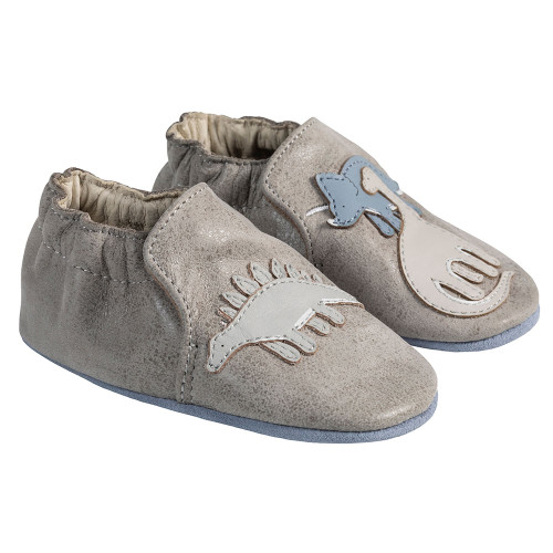 Angle - Robeez Grey Ramsey Soft Soles