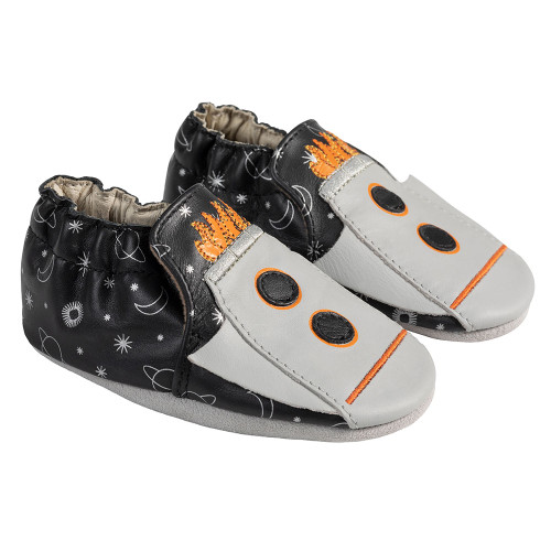 Angle - Robeez Black/Grey Apollo Soft Soles