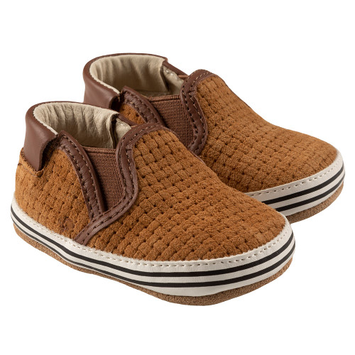 Robeez Daniel First Kicks, Camel Leather - Angle