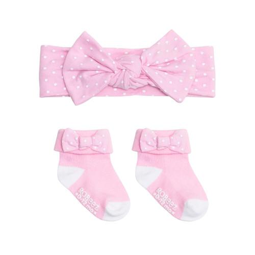 Robeez Dots 2 Piece Gift Set Light Pink