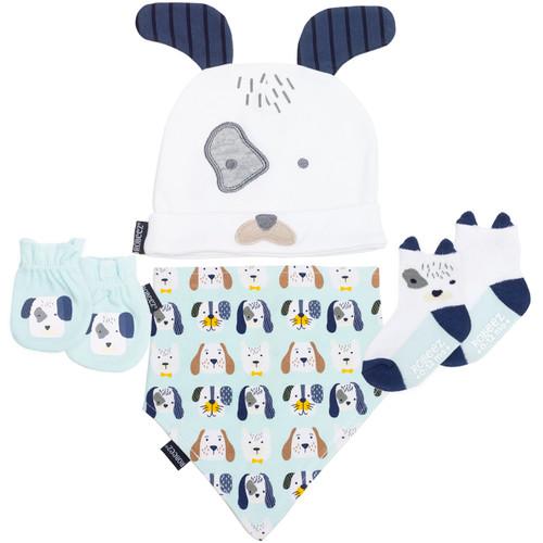 Robeez Puppy 4 Piece Gift Set Aqua