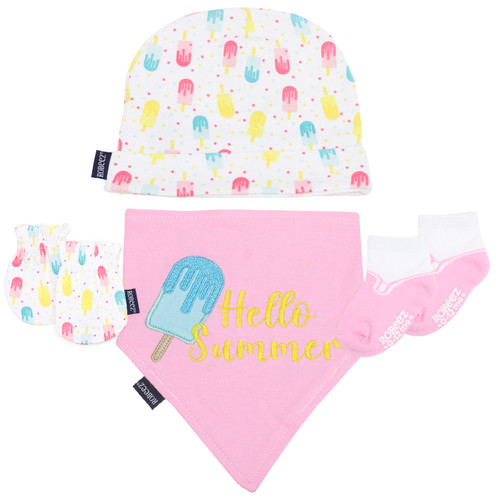 Robeez Popsicle 4 Piece Gift Set Pink