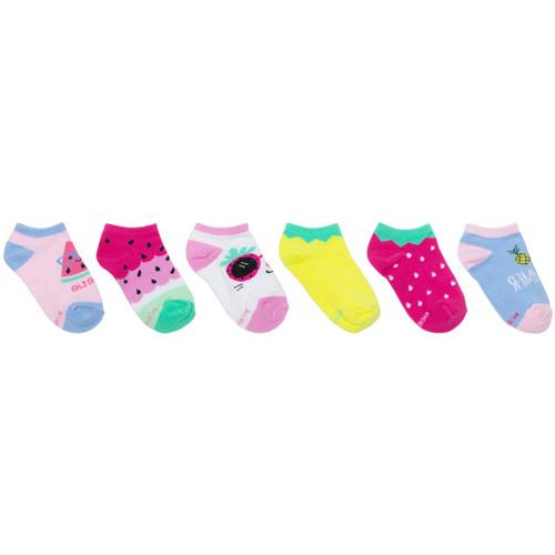 Fruits 6-pack Socks Pink