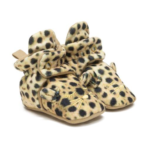 Cheetah Snap Booties Tan
