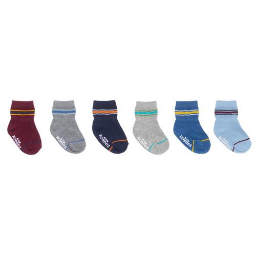 Varsity Stripes 6-Pack Infant Crew Socks
