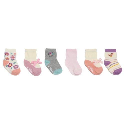 Winter Garden 6-Pack Infant Crew Socks