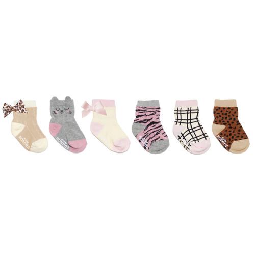 Purr-fect Kitty 6-Pack Infant Crew Socks