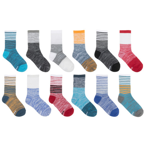 Color Blocked Boys 12-Pack Kids Socks