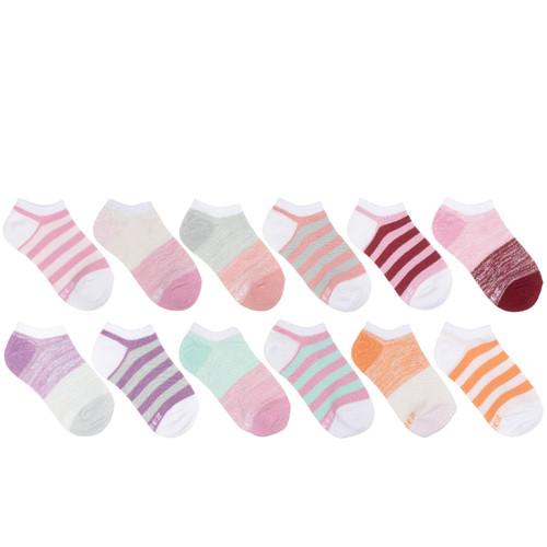 Free Run Stripes Girls 12-Pack Kids Socks