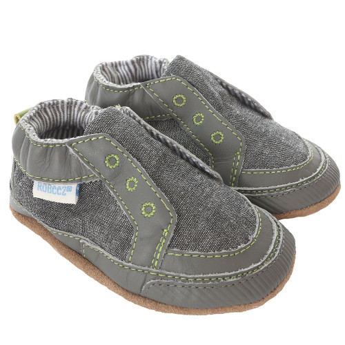 Robeez Stylish Steve Navy Soft Soles - Front