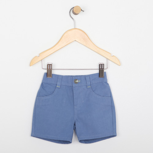 Light blue cotton shorts for babies and infants