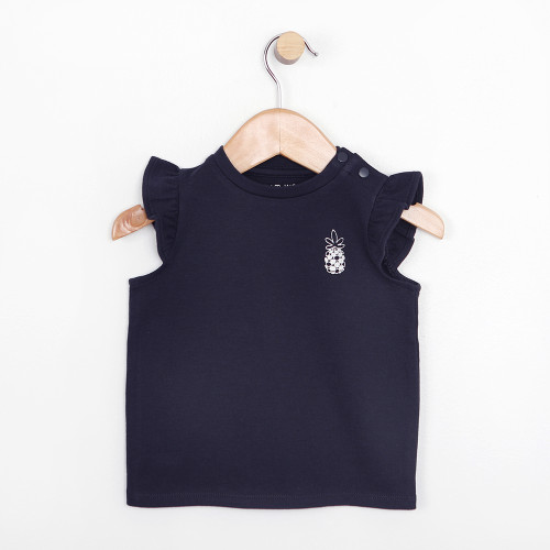 Navy flutter shirt with pineapple for babies and infants, part of our new baby apparel line